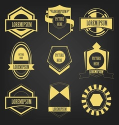 Premium Vintage Label Set vector image