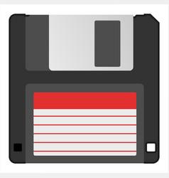 Retro vintage information storage device floppy vector