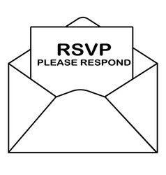 Rsvp icon on white background flat style please vector