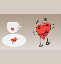 Sample for printing on tableware vector