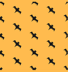 seamless pattern with flying bats vector image