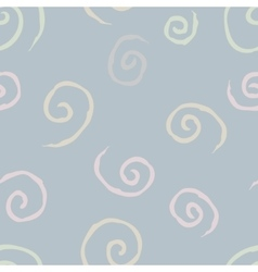 Seamless pattern with spiral curls 1 vector