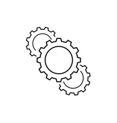 set of cogwheels equipmen of business icons vector image