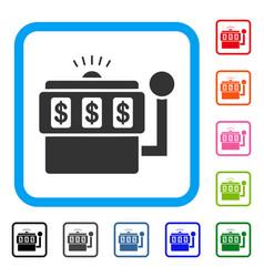 slot machine framed icon vector image