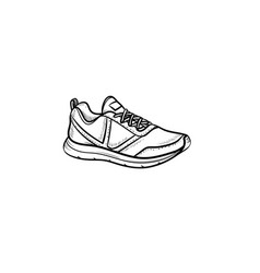 sneaker hand drawn outline doodle icon vector image