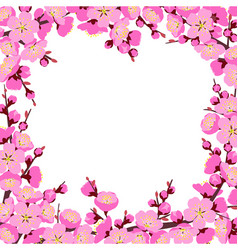 spring tree blossom square frame vector image