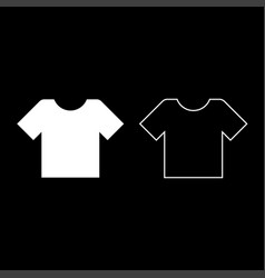t-shirt icon set white color flat style simple vector image