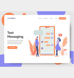 text messaging concept vector image
