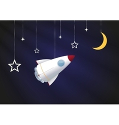 Toy rocket background vector image