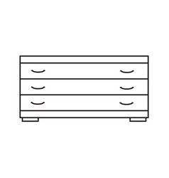 tv drawer line icon vector image