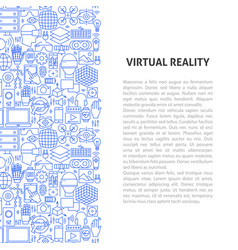 Virtual reality line pattern concept vector