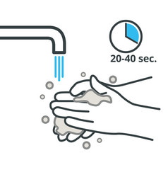 wash your hands with soap and water frequently vector image
