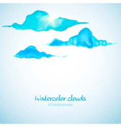 Watercolor clouds background vector