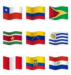 Waving flags of different countries 11 vector image