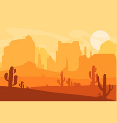 western texas desert vector image