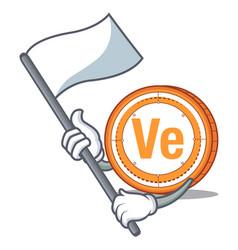 With flag veritaseum coin mascot cartoon vector