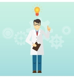 Young scientist professor got an idea Startup vector image