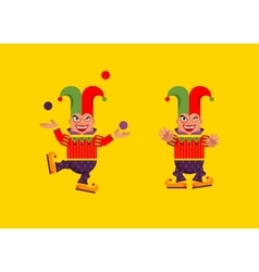 a jester character for halloween in vector image vector image