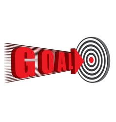 goal hitting the target vector image vector image