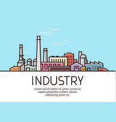 industry banner industrial production factory vector image