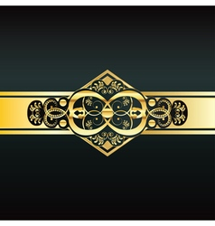 Invitation with Gold Ribbon6 vector image vector image