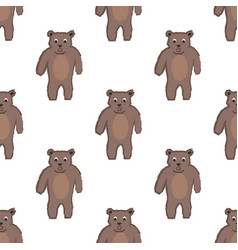 seamless childish pattern with funny character of vector image