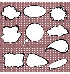 comic style speech vector image vector image