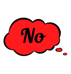 no in cloud icon cartoon vector image