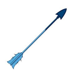 blue free spirit arrow rustic tribal decoration vector image vector image