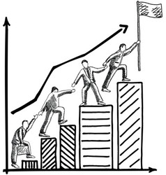 business teamwork concept hand drawn vector image