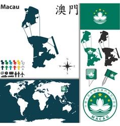 Macau map vector image