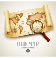 Old map vector image