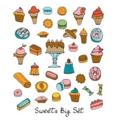 Sweets big set vector image vector image