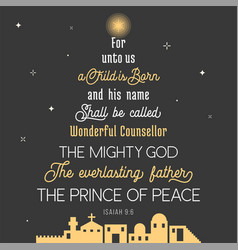 typography of bible verse from chronicles vector image vector image