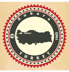 Vintage label-sticker cards of Turkey vector image vector image