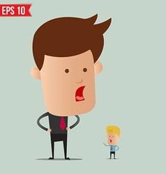 Business man and arguement - - EPS10 vector image vector image