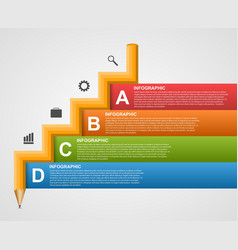 Education Infographics in the form of pencil vector image vector image