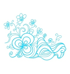 Hand drawn floral doodle vector image vector image