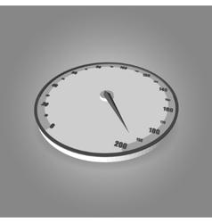 Speedometer on gradient background vector image