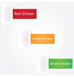 three colorful stickers vector image vector image