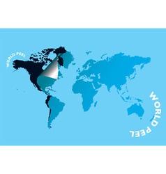 World peel vector image