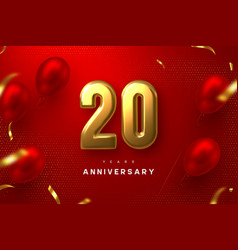 20 years anniversary celebration banner vector