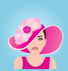 A girl in a pink bonnet vector