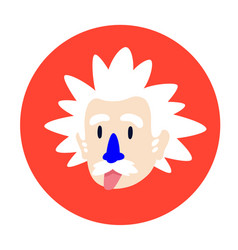 a mad scientist a genius flat character for vector image