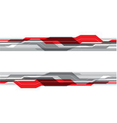 abstract red gray line futuristic technology vector image