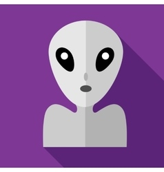 Alien icon in flat style vector image