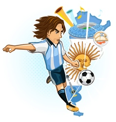Argentine Argentina Soccer Cup vector image