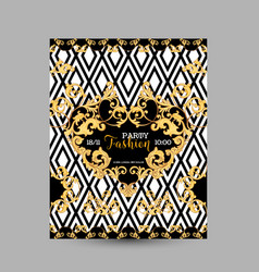 Baroque fashion decorative design poster vector