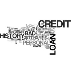 be cautious with your bad credit personal loan vector image