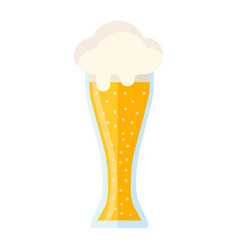 Beer glass flat icon food and drink alcohol sign vector